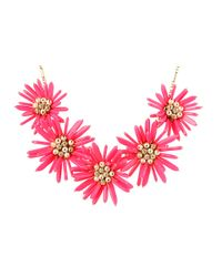 kate spade new york | Pink Field Day Statement Necklace | Lyst