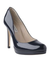 L.K.Bennett Black Sledge Platform Court Shoes