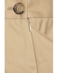 Vivienne Westwood Anglomania Natural New Accident Folded Stretchcotton Skirt