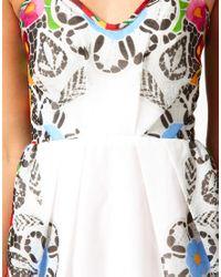 Alice McCALL Multicolor Printed Organza Bandeau Dress