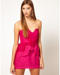Alice McCALL | Purple Organza Sweetheart Bustier Dress with Asymetric Peplum | Lyst