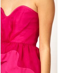 Alice McCALL - Purple Organza Sweetheart Bustier Dress with Asymetric Peplum - Lyst