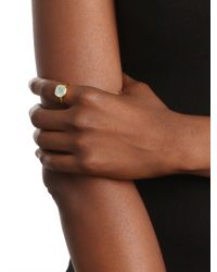 BaubleBar | Metallic Chalcedony Cushion Cut Ring | Lyst