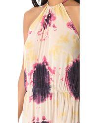 Blu Moon Pink Two Slit Halter Dress