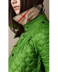 Burberry Brit Green Cropped Quilted Jacket