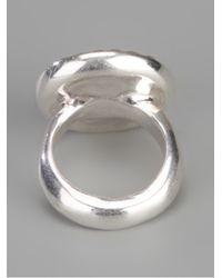 Rosa Maria Brown Cut Quartz and Diamond Ring