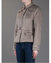 Burberry Gray Quilted Trench Jacket