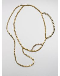 FLorian | Metallic Layered Bead Necklace | Lyst