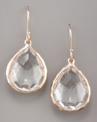 Ippolita Metallic Rose Mini Teardrop Earrings