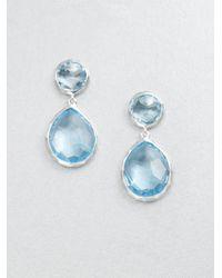 Ippolita - Blue Topaz Sterling Silver Snowman Drop Earrings - Lyst