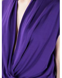 Lanvin Purple Draped Jumpsuit