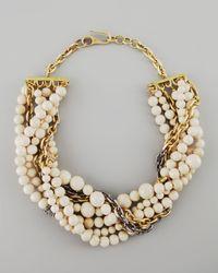 Paige Novick - White Julie 7strand Riverstone Beaded Necklace - Lyst