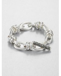 Pomellato - Metallic Sterling Silver Toggle Bracelet - Lyst