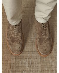 Tod's Natural Suede Brogues for men