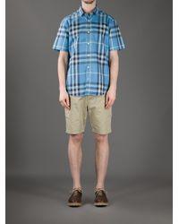 Burberry Brit - Blue Jesse Printed Cotton Shirt for Men - Lyst
