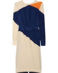 Preen By Thornton Bregazzi | Natural Rombus Silk Crepe De Chine Dress | Lyst