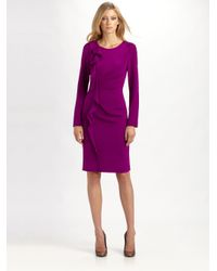Teri Jon | Purple Silk Dress | Lyst
