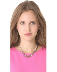 Tom Binns - Metallic Regal Rocker Fonce Baguette Necklace - Lyst