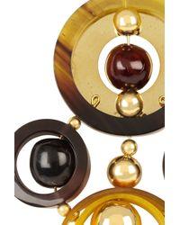 Marni - Metallic Gold Tone Horn Brooch - Lyst