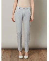 Notify - Gray Dionae Cotton Chino Trousers for Men - Lyst