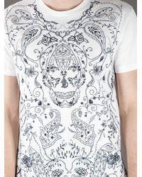 Alexander McQueen White Printed T-Shirt for men