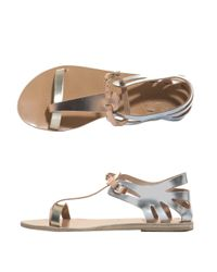 Ancient Greek Sandals Ariadine Metallic Leather Sandals