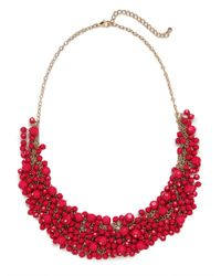 BaubleBar | Metallic Fuchsia Gem Cluster Necklace | Lyst