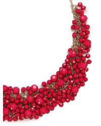 BaubleBar - Metallic Fuchsia Gem Cluster Necklace - Lyst