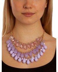 BaubleBar - Purple Lilac Teardrop Tier Bib - Lyst
