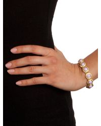 BaubleBar | Metallic Lilac Twist Frame Bracelet | Lyst