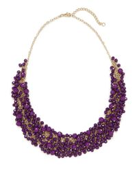BaubleBar - Purple Violet Gem Cluster Necklace - Lyst