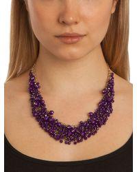 BaubleBar | Purple Violet Gem Cluster Necklace | Lyst