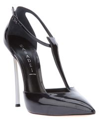 Casadei Black Softy-metal Pointed Toe Pump