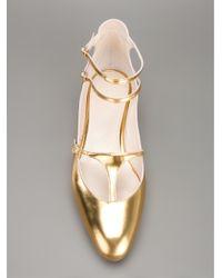 Chloé | Metallic Adelin Ballerina Flat | Lyst