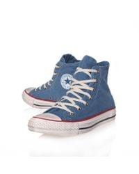 Converse Blue Ct Washed Hi