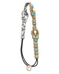 Deepa Gurnani | Blue Crystal Beaded Headband | Lyst