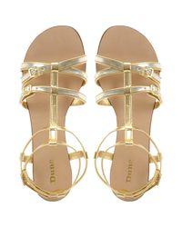 Dune Metallic Jazmine Sandals