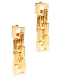 Eddie Borgo - Metallic Helix Square Link Earrings - Lyst