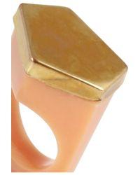 Marni - Orange Bone Ring - Lyst