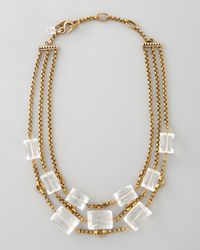 Stephen Dweck - Metallic Three Strand Rock Crystal Necklace - Lyst