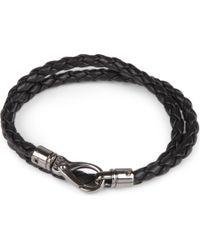 Tod's - Black My Colours Plaited Leather Bracelet for Men - Lyst