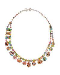 Tom Binns - Metallic A Riot Of Color Glowinthedark Swarovski Crystal Necklace - Lyst