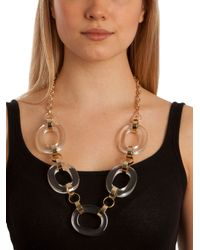 BaubleBar | Metallic Clear Olink Necklace | Lyst