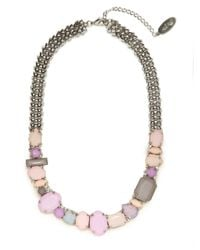 BaubleBar | Metallic Adia Kibur Pink Gem Rock Necklace | Lyst