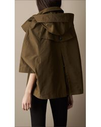 Burberry Brit Brown Short Swing Cape Trench Coat