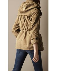 Burberry Brit Natural Cropped Hooded Parka