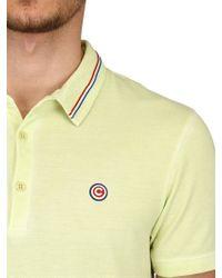Colmar Yellow Cotton Piqué Polo Shirt for men