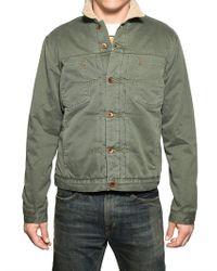 Edwin Green Gabardine Panhead Nomad Jacket for men