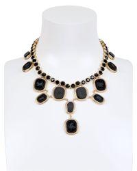 Ferragamo | Black Swarovski and Zodiac Pendants Necklace | Lyst