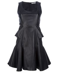 Givenchy Black Flared Leather Dress